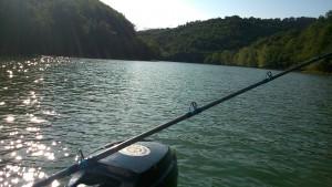 pêche lac cabanac bateau